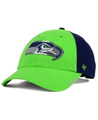 '47 Brand Women's Seattle Seahawks Sparkle 2 Tone Adjustable Cap Lime Navy