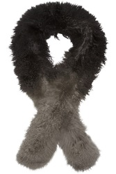 Karl Donoghue Boa Ombre Shearling Scarf Black