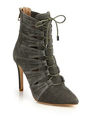 Joie Jelka Leather Lace Up Booties Whiskey