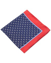Club Room Anchor Pocket Square Only At Macy's Navy