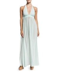 Loveshackfancy Braided Love Halter Maxi Dress Mint