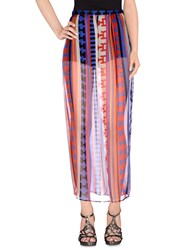 Msgm Skirts Long Skirts Women Blue