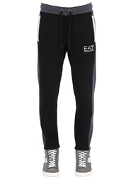 Emporio Armani Two Tone Logo Cotton Jogging Pants