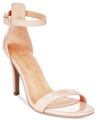 Material Girl Blaire Two Piece Dress Sandals Only At Macy's Women's Shoes Nude Patent