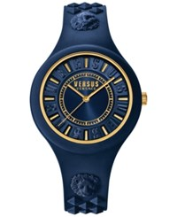 Versus By Versace Women's Fire Island Blue Silicone Strap Watch 39Mm Soq09 0016 Navy