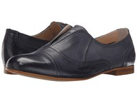 Massimo Matteo Laceless Oxford Navy Women's Slip On Shoes