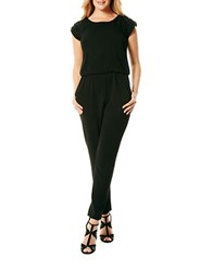 Laundry By Shelli Segal Cap Sleeved Jumpsuit Black