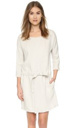 Current Elliott The Cinched Shift Dress Dirty White