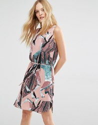 Y.A.S Kimo Dress In Graphic Print Print
