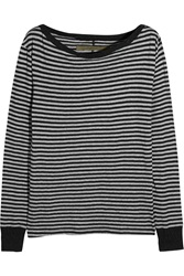 Enza Costa Striped Cotton And Cashmere Blend Top