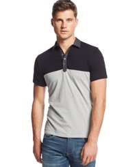 Guess Colorblocked Polo Light Heather