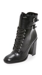 Schutz Makayla Leather Booties Black