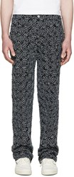 Telfar Ssense Exclusive Black Embroidered Basic Jeans