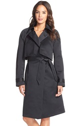 Tracy Reese Tiered Trench Coat Black