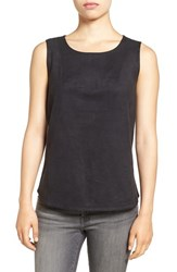 Nic Zoe Women's Faux Suede And Ponte Tank