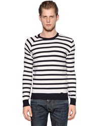 Dsquared Striped Ribbed Wool Sweater