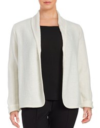 Nipon Boutique Plus Open Front Wool Cardigan Ivory