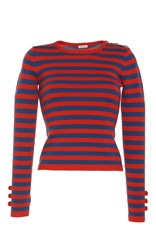 Manoush Red Nautical Pullover Stripe