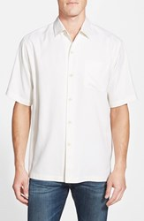 Tommy Bahama Men's 'San Clemente' Original Fit Silk Camp Shirt Continental White