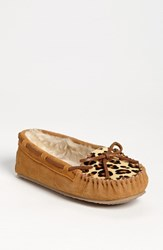 Women's Minnetonka 'Cally' Slipper Cinnamon