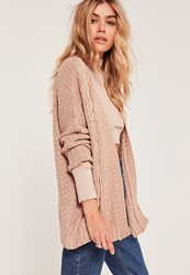 Missguided Cable Cardigan Camel