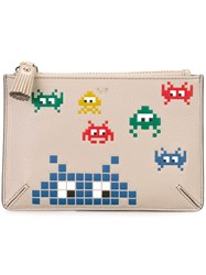 Anya Hindmarch Arcade Game Clutch Nude And Neutrals