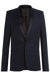 The Kooples Wool Blazer With Satin Blue