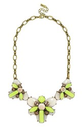 Women's Baublebar 'Bliss' Bib Necklace Bright Green Antique Gold