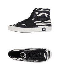 D.A.T.E. High Tops And Trainers Black