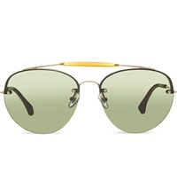 Dries Van Noten Exclusive Dvn70 Double Bridge Aviators Goldandtabaccogradient