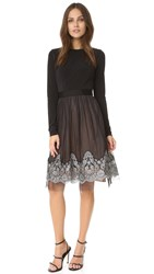Catherine Deane Grady Long Sleeve Dress Black Silver
