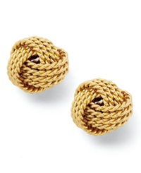 Giani Bernini 24K Gold Over Sterling Silver Earrings Love Knot Stud Earrings