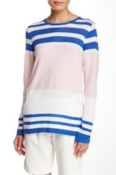 Cullen Variegated Stripe Hi Lo Sweater Multi