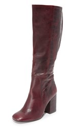Free People High Ground Tall Boots Red
