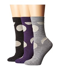 Smartwool Polk A Dot Crew 3 Pack Multicolor Women's Crew Cut Socks Shoes