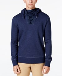 Tommy Hilfiger Men's Abley Lace Up Hoodie Navy Blazer Heather