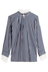 Preen By Thornton Bregazzi Gingham Blouse With Lace Multicolor
