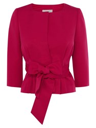 Coast Vegara Bow Jacket Raspberry