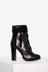 Nasty Gal Take A Hike Leather Boot Black