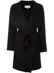 Michael Michael Kors Wrap Style Belted Coat Black