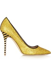 J.Crew Glitter Finished Leather Pumps Metallic