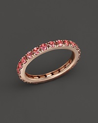Bloomingdale's Pink Tourmaline Eternity Midi Ring In 14K Rose Gold