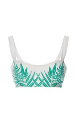 Mara Hoffman Cotton Leaf Embroidered Bralette Top White