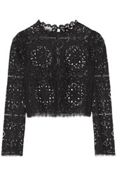 Temperley London Nomi Lace Top Black