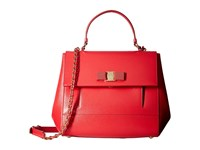 Salvatore Ferragamo Carrie 21F558 Pamplona Satchel Handbags Red
