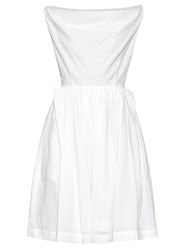 Vivienne Westwood Broderie Anglaise Draped Cotton Dress