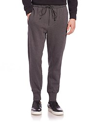 3.1 Phillip Lim Tapered Cotton Lounge Pants Charcoal