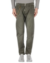 Yes London Trousers Casual Trousers Men Military Green