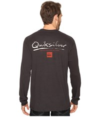 Quiksilver Gut Check Pocket Long Sleeve Tee Tarmac Men's T Shirt Olive