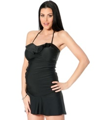 Motherhood Maternity Convertible Ruffled Tankini Top